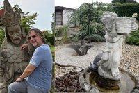 Bydlení vážně nemocného Dalibora Jandy (67): Sbírka kuriozit a obří zahrada s pyramidou!