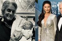 Hollywoodský bouřlivák Michael Douglas: Novorozeného vnuka směl vidět až po měsíci!