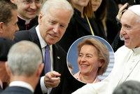 Spojené státy jsou zpět, jásá šéfka unie. Papež František přeje Bidenovi vedení Boha