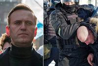 """""""Svobodu Navalnému!"""" Přes 1000 demonstrantů zatčených v Rusku. I manželka opozičníka"""