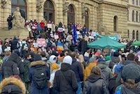 Dost bylo bezpráví! Dvě stovky lidí demonstrovaly v Praze proti zadržení Navalného