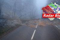 Sníh zasáhl Česko a komplikuje dopravu. Zvedají se i hladiny řek, sledujte radar Blesku