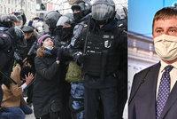 Brutální násilí v Rusku namíchlo Petříčka. Zadržených 3500 lidí? Neuvěřitelné, říká
