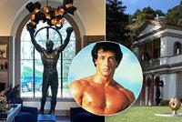 Sylvester Stallone (74) prodává barák! 8 ložnic a 12 koupelen za 2,8 miliardy