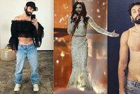 Vousatá zpěvačka Conchita Wurst v ráži: Růžové kalhotky, korzety a síťované body!