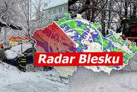 Nový sníh může komplikovat dopravu v Česku, varují meteorologové. Sledujte radar Blesku
