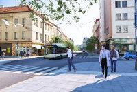Zásadní proměna: Z rušné Americké třídy v Plzni má být městský bulvár bez aut