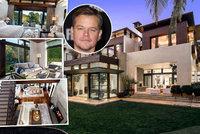 Hollywoodský fešák Damon opouští přepychovou vilu: Sedm pokojů, spa i tělocvičnu za půl miliardy!