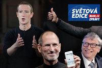 Miliardář Bezos opustil Amazon. Poslední pionýr Silicon Valley Zuckerberg čelí potížím