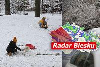 Arktická zima v Česku: Husté sněžení, mráz až 20 °C a doprava kolabuje. Sledujte radar Blesku