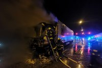 Komplikace na Pražském okruhu: Lochkovský tunel byl 15 hodin zavřený! Hořel tam kamion