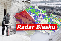 Počasí v krajích: Náledí, nový sníh a mráz. Teploty klesnou k -18°C. Sledujte radar Blesku