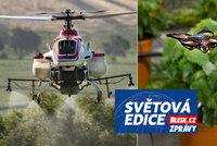 Rozmach dronů v zemědělství: Vraždí moly, myši a další škůdce, nahradí ubývající včely?