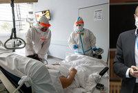Koronavirus ONLINE: JIP jsou plné tlouštíků, zmínil Dušek. A železárny se podělí o kyslík