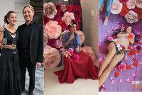 Janečkova kněžka Lilia před porodem nafotila éterické snímky: Květiny až v rozkroku!