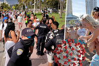 """Davy studentů """"paří"""" na známé pláži virus nevirus. Úřady tápou, policisté se museli bránit"""