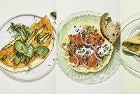 Nadýchané omelety v jarním kabátku: Vsaďte na lososa, ricottu i chřest!