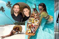Modelka Taťána Makarenko na Maledivách: Milence žhaví svým zadečkem!