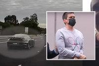Makléř v porsche: Jel rychle, byl zdrogovaný a ještě si natáčel umírající policisty!