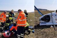 Na letišti u Kladna se zřítil vrtulník! Zasahovali záchranáři i letecká služba