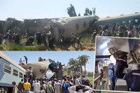 Děsivá srážka vlaků v Egyptě: Zemřelo nejméně 32 lidí, další desítky se zranily