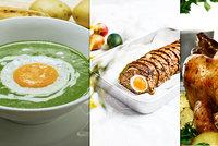 Dokonalé velikonoční menu: Špenátový krém, kuře s nádivkou a slavnostní sekaná