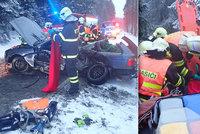 Tragická srážka BMW s dodávkou: Jeden mrtvý, několik zraněných včetně dítěte!