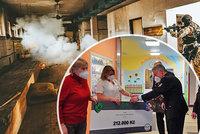 Policisté ze speciální jednotky vybrali 212 tisíc korun: Pomohou onkologicky nemocným dětem