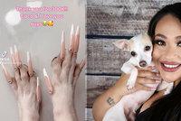 Influencerka (25) šokovala sociální síť: Svému pejskovi nalepila na drápky umělé nehty!