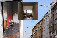 Děsivé svědectví z ohnivého pekla ve Strašnicích: Hustý černý dým v bytě, nebylo vidět na krok!