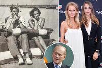 Rodinné tajemství modelek Delevingneových: Babička laškovala s princem Philipem (†99)!