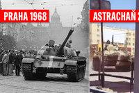 """Rusové """"táhnou"""" na Ukrajinu: Tanky pomalovali stejně jako v srpnu 1968 v Československu"""