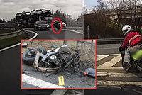 VIDEO: Vteřiny před smrtí! Motorkář (†41) kličkoval mezi auty v protisměru, narazil a zemřel. Policie řekla detaily