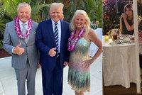 Romantika s Melanií, pak havajská party v luxusu. Exprezident Trump měl nabitý týden