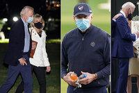 Biřmování vnuka, synův hrob i první prezidentský golf: Biden s manželkou na výletě