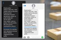 Pozor na podvodné SMS: Vydávají se za Českou poštu, mohou se vám dostat i do bankovnictví