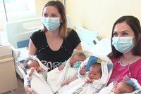 Sestry Silvie a Soňa porodily ve stejný den: Obě mají dvojčata-kluky!