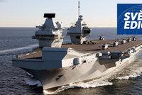 Královna Alžběta vyráží hrozit Putinovi a Číně. První mise nové letadlové lodi