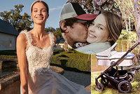 David Kraus (41) opět překvapil: Po utajení narození dcery ukázal partnerku ve svatebním