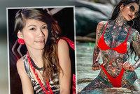 Sexy kočka ujíždí na tetování: Dokonalé tělo proměnila v malířské plátno
