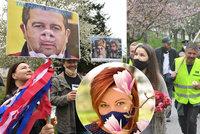 Schillerová pod květy, Semelová s proslovem: Politici skromně slavili 1. máj