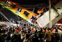 Pod metrem se zřítil most: 15 mrtvých a 70 zraněných po děsivé nehodě v Mexiku