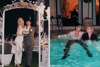 Hvězda Hry o trůny a zpěvák Jonas Brothers na výročí odhalili: Mokré svatební fotky!