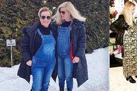 Štíbrová a Pártlová si v 8. měsíci poměřovaly břicha: Stejné oblečení i termíny porodů!