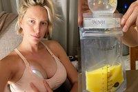 Čerstvá máma Kurková bez příkras: Ukázala, jak odstřikuje mateřské mléko - žluté! Vzbudila řadu otázek!