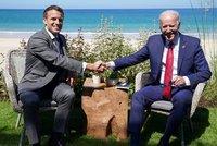 """""""EU je silná a životem pulzující,"""" míní Biden a notoval si s Macronem. Zaletí i do Bruselu"""