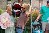 Pártlová i Štíbrová už jsou z porodnice pryč: Den otců oslavili doma!