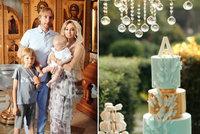 Přepychové křtiny nejmladšího Pljuščenka (8 měsíců): Křišťálové lustry, žirafy a třípatrový dort!