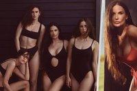 Neuvěřitelně žhavá Demi Moore (58) pózuje v plavkách po boku svých dcer! Která je která?