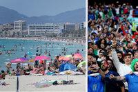Rychlé šíření mutace delta v Evropě: Obavy z nacpaných pláží i davů fanoušků!